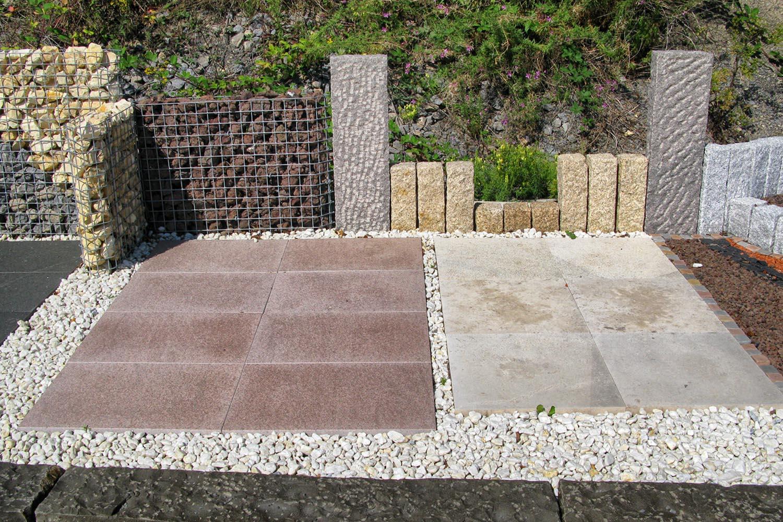 platten in splitt verlegen natursteinplatten f r garten terrasse selbst verlegen nabbefeld. Black Bedroom Furniture Sets. Home Design Ideas